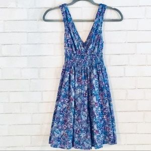 H&M divided floral sleeveless dress